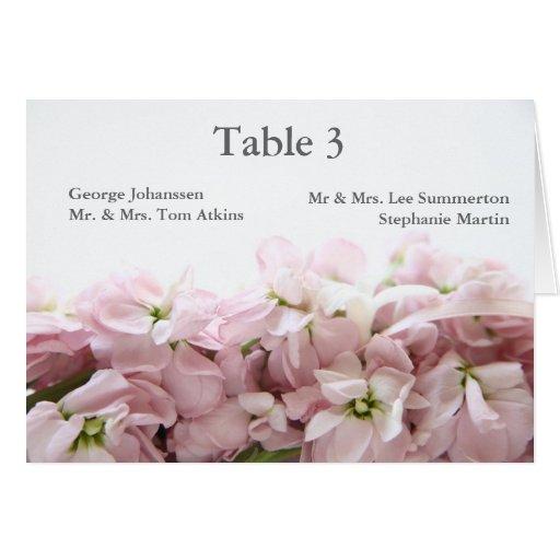 la primavera rosada florece la tarjeta de la tabla