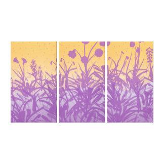 La primavera siluetea el panel tres impresion de lienzo