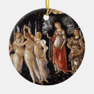 La Primavera (Spring) by Sandro Botticelli Ceramic Ornament