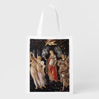 La Primavera (Spring) by Sandro Botticelli Grocery Bag