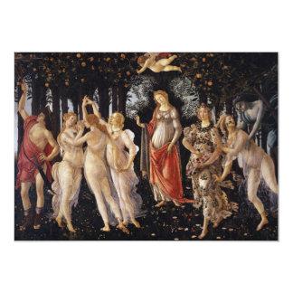La Primavera (Spring) by Sandro Botticelli Invitation