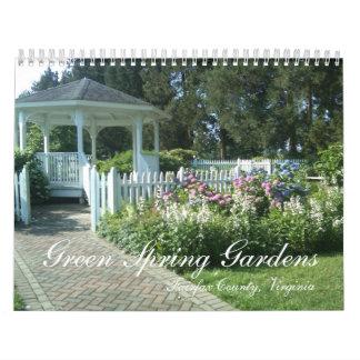 La primavera verde cultiva un huerto, el condado calendarios de pared