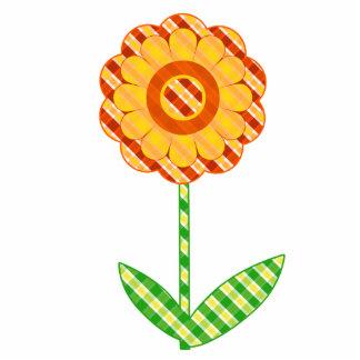 La primavera verde y amarilla anaranjada linda imán fotoescultura