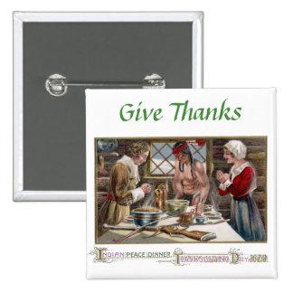 La primera acción de gracias pin