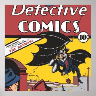 La primera aparición de Batman Póster