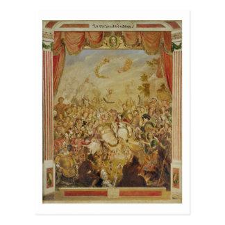 La primera aparición de William Shakespeare (1564- Postales