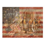 La primera bandera americana postales