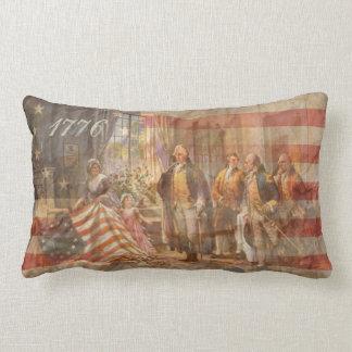 La primera bandera americana y nosotros la gente cojines