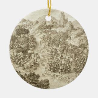 La primera batalla entre el ejército chino y ése ornamentos de reyes magos