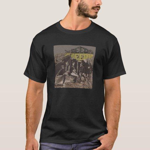 La primera camiseta de la cubierta del álbum de