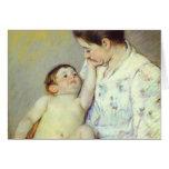La primera caricia del bebé. c. 1890, Mary Cassatt Tarjetón