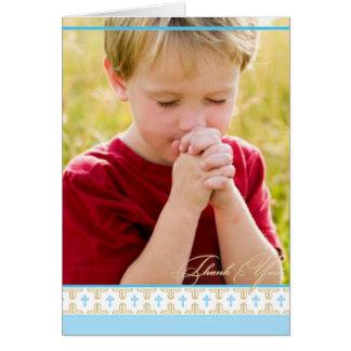 La primera comunión, bautizo el | le agradece card tarjetas