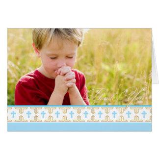 La primera comunión, bautizo el | le agradece tarjeta pequeña