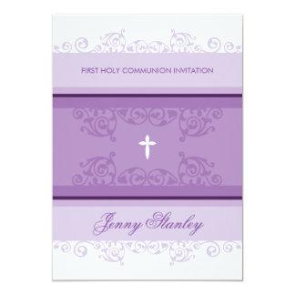 La PRIMERA COMUNIÓN INVITA a la púrpura violeta de Comunicados Personalizados