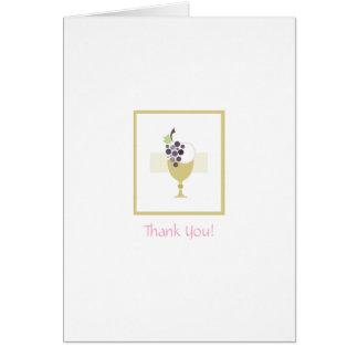 La primera comunión le agradece cardar tarjeta