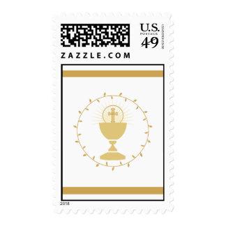 La primera comunión sella el oro del | sello postal