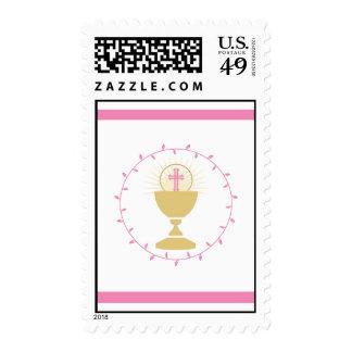La primera comunión sella el rosa del | sello