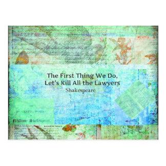 La primera cosa hacemos, nos dejamos matar a todos tarjetas postales
