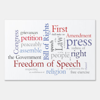 La Primera Enmienda de la libertad de expresión en