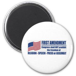 La Primera Enmienda Imán Redondo 5 Cm