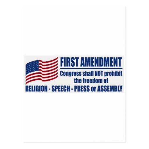 La Primera Enmienda Tarjetas Postales
