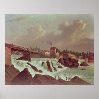 La primera fábrica de algodón en América Póster