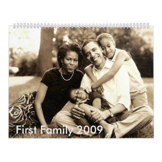 La primera familia 2009 de América Calendario De Pared