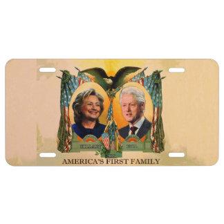 La primera familia 2016 del americano placa de matrícula