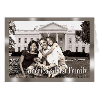 La primera familia de América Tarjeta De Felicitación