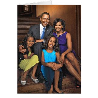 La primera familia tarjeta de felicitación