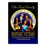 La primera familia - victoria histórica tarjeta
