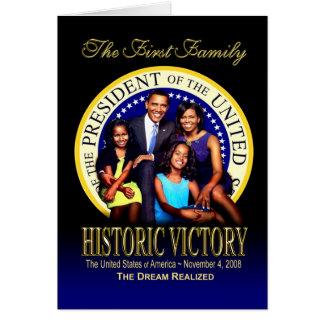 La primera familia - victoria histórica tarjeta de felicitación