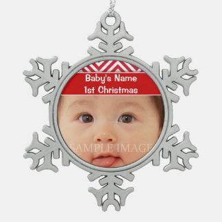 La primera foto del navidad del bebé personaliza