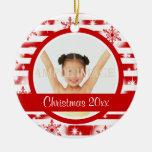 La primera foto del navidad personaliza adorno para reyes