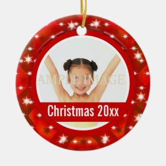 La primera foto del navidad personaliza ornamento para arbol de navidad