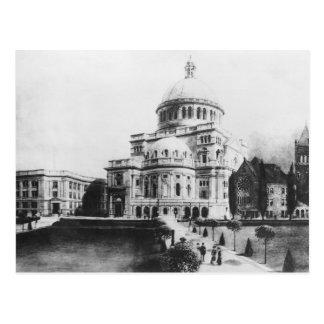 La primera iglesia de Cristo, científico en Boston Tarjeta Postal