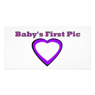 La primera imagen del bebé los regalos de Zazzle Tarjetas Con Fotos Personalizadas