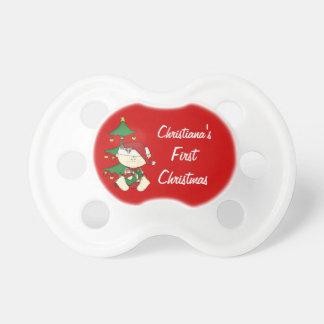 La primera Navidad del bebé personaliza nombre del Chupetes De Bebé