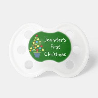 La primera Navidad del bebé personaliza nombre del Chupetes Para Bebés