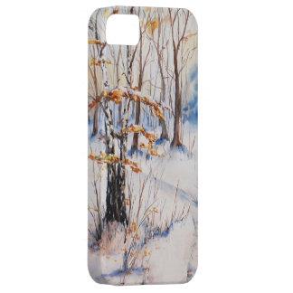 La primera nieve iPhone 5 carcasas