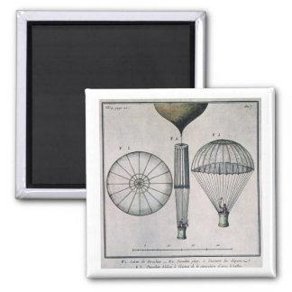 La primera pendiente de paracaídas de Andre-Jacque Imán Cuadrado