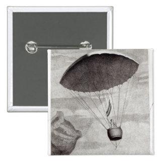 La primera pendiente de paracaídas pin cuadrada 5 cm