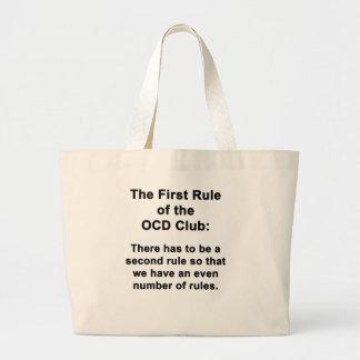 La primera regla del club de OCD Bolsa Tela Grande