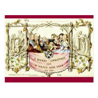 La primera tarjeta de Navidad (1843) Tarjeta Postal