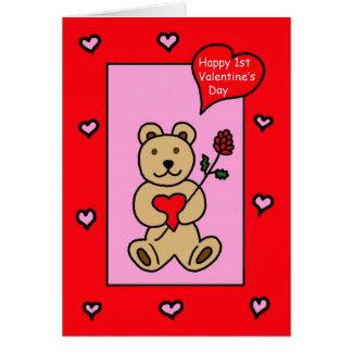 La primera tarjeta del día de San Valentín del beb