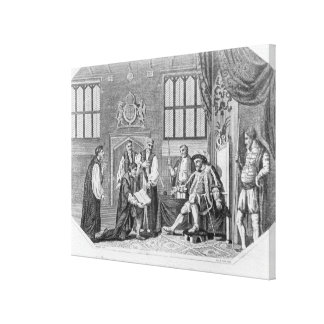 La primera traducción inglesa de la biblia impresión en lienzo
