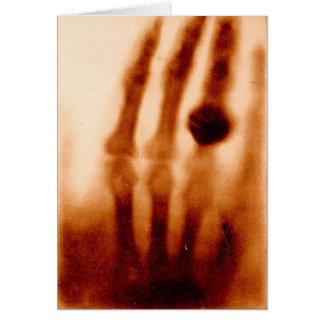La primera X-Ray, 1901, fotografía Felicitacion