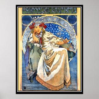 La princesa Alfonso Mucha Poster