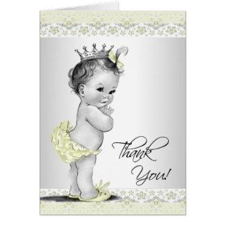 La princesa amarilla fiesta de bienvenida al bebé  tarjeta pequeña