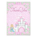 La princesa bonita, el unicornio y el castillo le invitación 8,9 x 12,7 cm